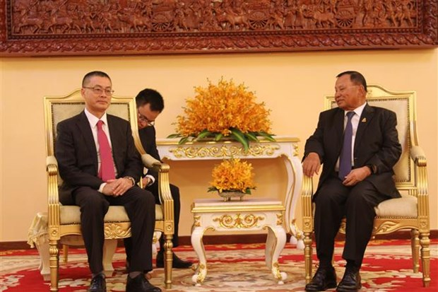 Vietnam National Assembly presents gift to Cambodian Senate hinh anh 1