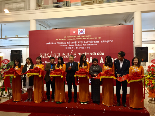 Vietnam-Rok art exhibition promotes friendship hinh anh 1