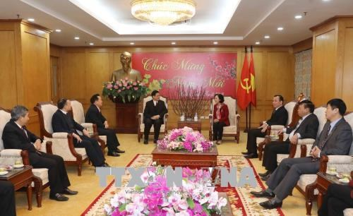 Evangelical Church offers Tet greetings to Party commission hinh anh 1