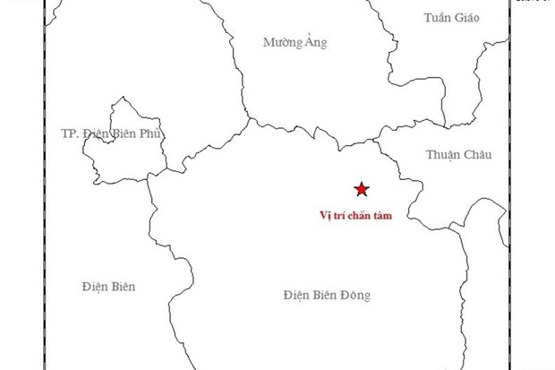 4.1 magnitude earthquake hits Dien Bien province hinh anh 1
