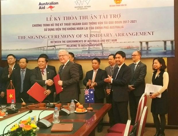 Australia grants Vietnam 24 million USD for transport development hinh anh 1
