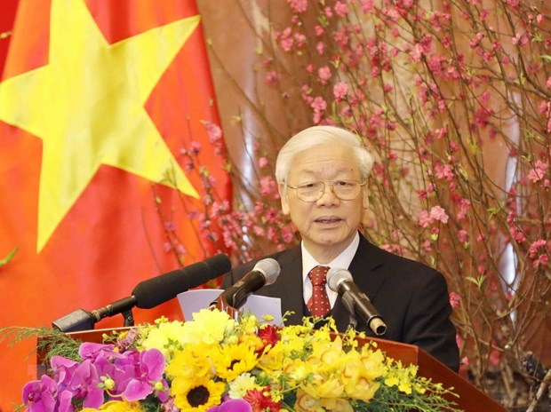 Party chief optimistic about national development in 2018 hinh anh 1
