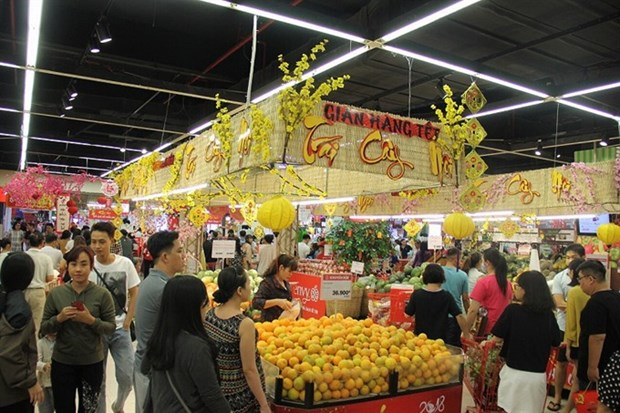 Supermarkets in HCM City gear up for Lunar New Year hinh anh 1
