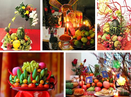 Five-fruit tray at traditional Lunar New Year hinh anh 1
