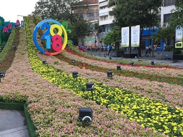 Nguyen Hue Flower Street opens for Tet hinh anh 1
