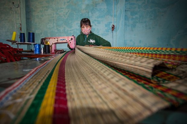 New machines revive mat weaving village hinh anh 1