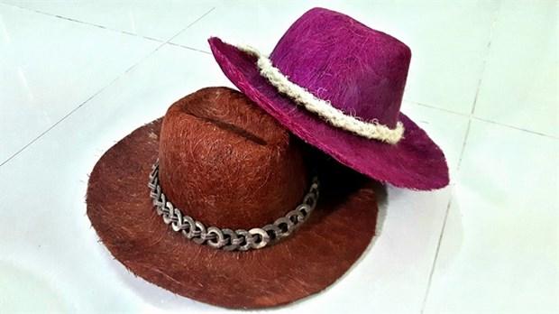 Coconuts make stylish hats hinh anh 1