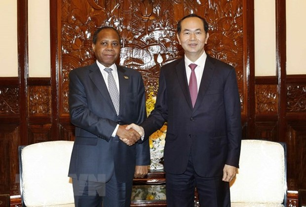 President receives outgoing Mozambican Ambassador hinh anh 1