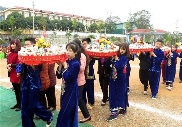 Tay minority in Tuyen Quang celebrates Long Tong festival hinh anh 1