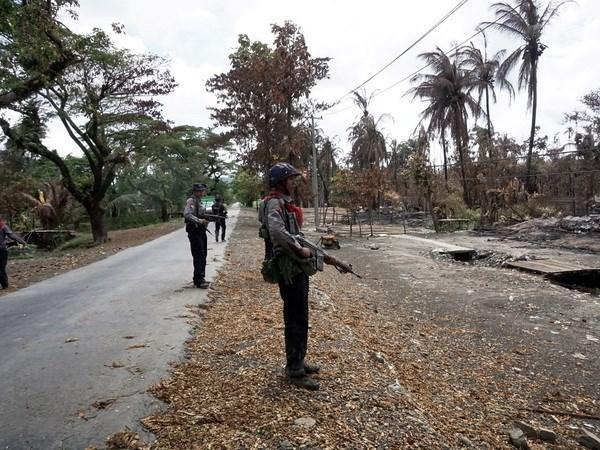 Series of bomb blasts hit Myanmar's Rakhine state hinh anh 1