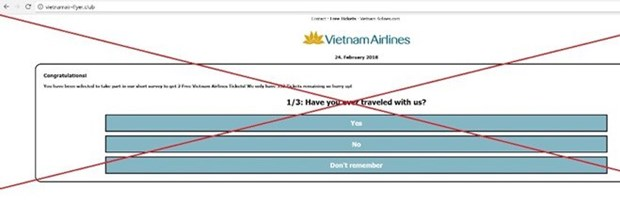 Vietnam Airlines warns flyers of social-media free ticket scam hinh anh 1