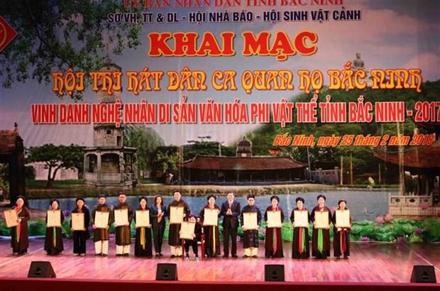 Bac Ninh honours 47 intangible cultural heritage artisans hinh anh 1
