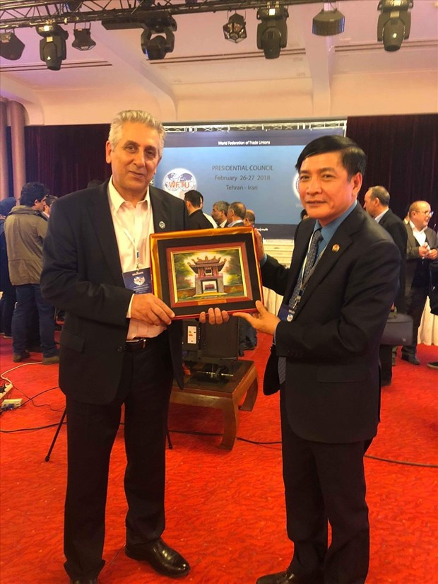 Vietnam attends WFTU President Council in Tehran hinh anh 1