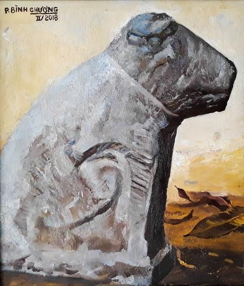 Hanoi: Dog paintings show celebrates Year of the Dog hinh anh 2