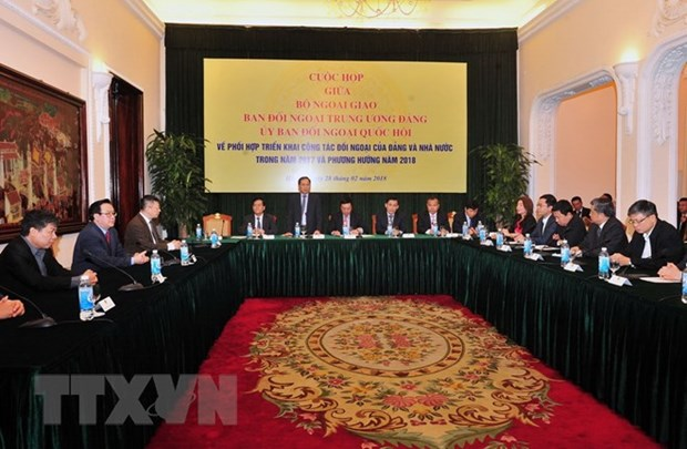 Party, Government, NA foreign affairs bodies forge stronger ties hinh anh 1