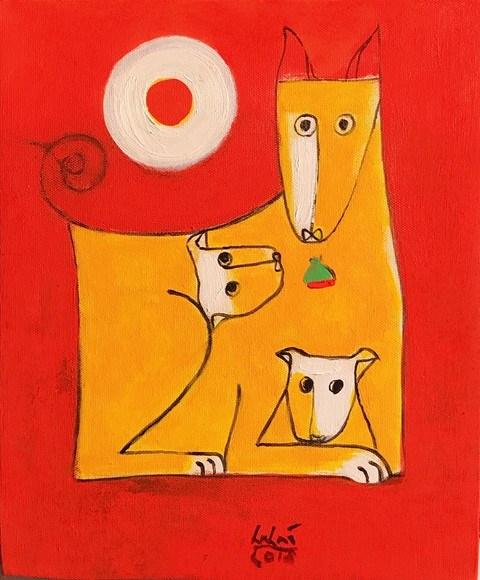 Hanoi: Dog paintings show celebrates Year of the Dog hinh anh 4