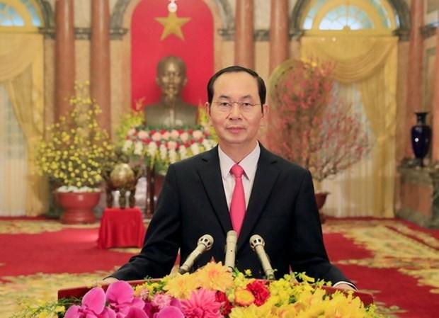 President Tran Dai Quang's Bangladesh visit aims for 1 billion USD trade hinh anh 1