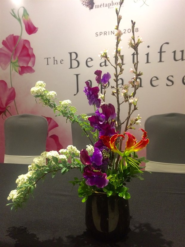 Japanese flower arrangements dazzle on display in Hanoi hinh anh 1