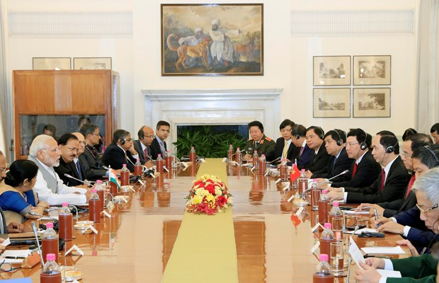 President Tran Dai Quang holds talks with Indian PM Narendra Modi hinh anh 2