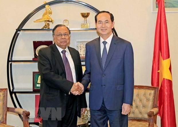 President Tran Dai Quang's activities in Bangladesh hinh anh 1
