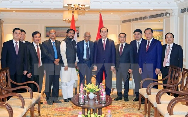 Vietnamese President receives leaders of Indian political parties hinh anh 2