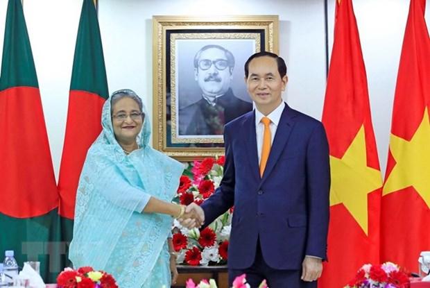 Vietnamese, Bangladeshi leaders hold talks hinh anh 1