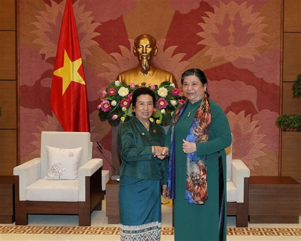Legislative leader receives Lao NA ethnic committee's delegation hinh anh 1