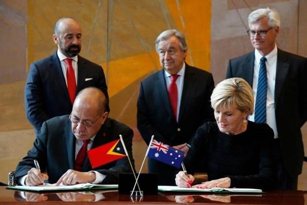 Australia, Timor-Leste sign maritime boundaries treaty hinh anh 1