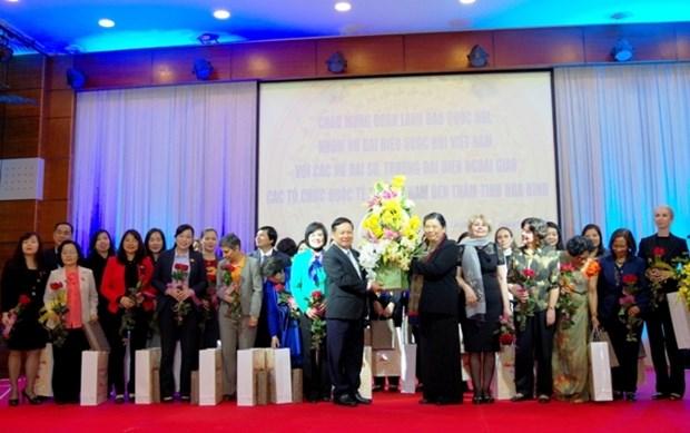 Female ambassadors pay working trip to Hoa Binh hinh anh 1