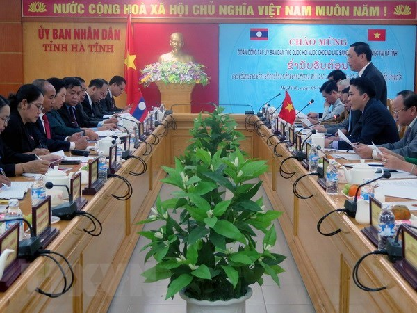 Lao NA committee for ethnic affairs delegation visits Ha Tinh hinh anh 1