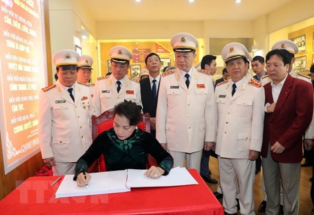 Public security force urged to uphold President Ho's teachings hinh anh 1