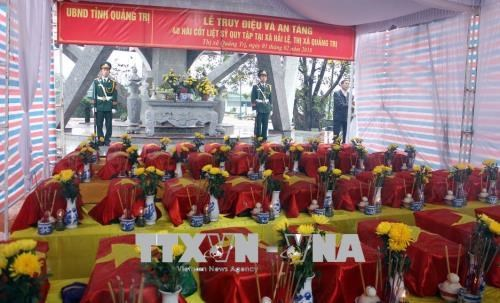 Quang Tri: 12 sets of war martyrs' remains collected hinh anh 1