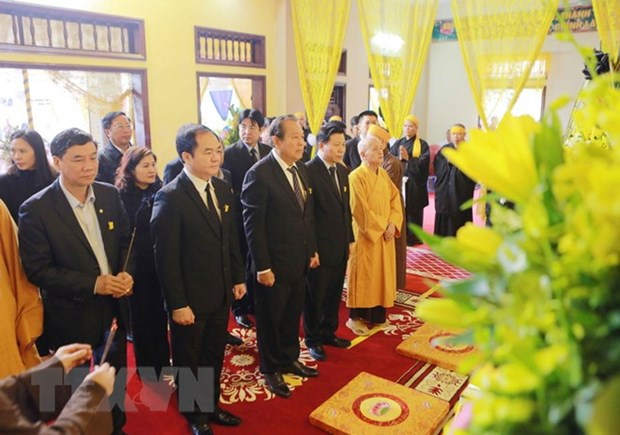 Deputy PM pays homage to Most Venerable Thich Thanh Sam hinh anh 1