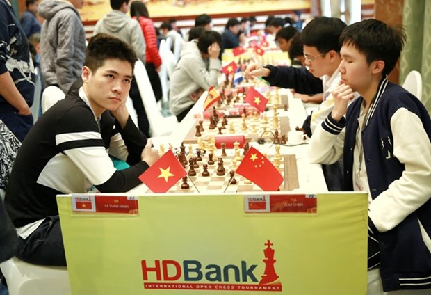 Le Tuan Minh tops HDBank chess tournament after sixth round hinh anh 1