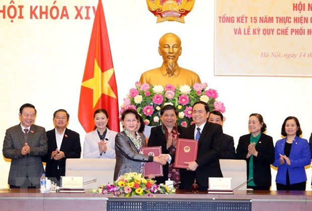 NA Standing Committee, VFF Presidium reinforce coordination hinh anh 1