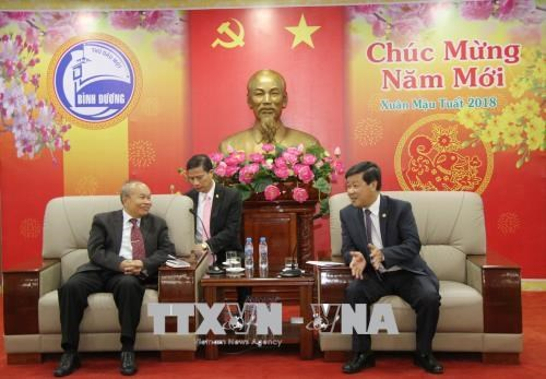 Cambodian religions ministry's delegation visits Binh Duong hinh anh 1