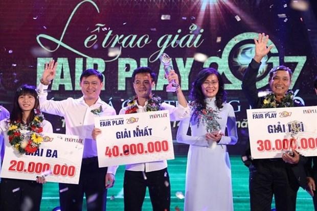 2017 Fair Play Award winners announced hinh anh 1