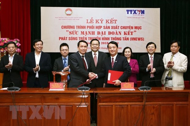 VNA, VFF join hands in producing TV programme hinh anh 1