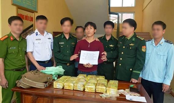 Ha Tinh border guard busts drug smuggler from Laos hinh anh 1