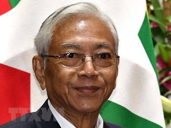 Myanmar President U Htin Kyaw steps down hinh anh 1
