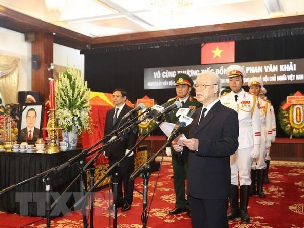 Former PM Phan Van Khai laid to rest hinh anh 1