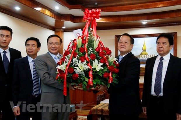 Vietnam congratulates Laos on 63rd Party founding anniversary hinh anh 1