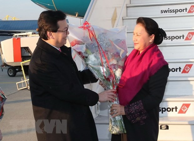 NA Chairwoman arrives in Geneva for attendance at IPU-138 hinh anh 1