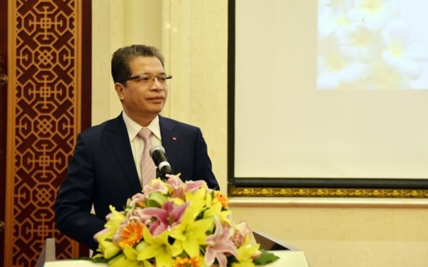Vietnamese, Lao embassies in China hold friendship exchange hinh anh 1