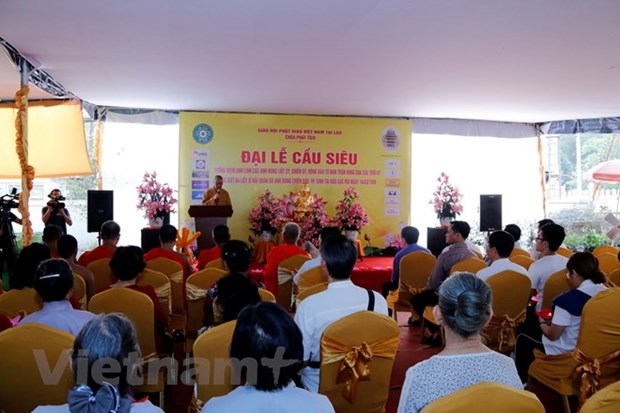 Overseas Vietnamese in Laos holds requiem for fallen soldiers hinh anh 1