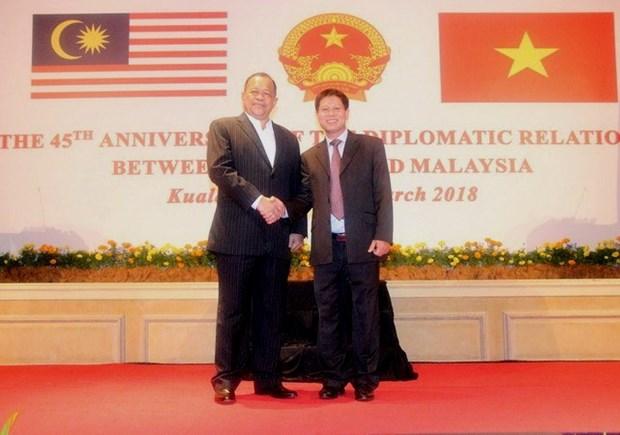 VN, Malaysia celebrate 45 years of diplomatic ties in Kuala Lumpur hinh anh 1