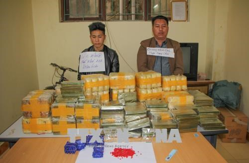 Dien Bien police seize 135 bricks of heroin, 500,000 synthetic drug pills hinh anh 1