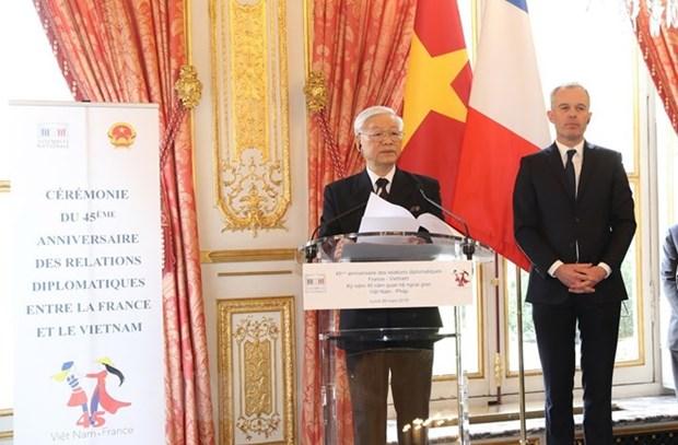 Vietnam, France mark 45th anniversary of diplomatic ties in Paris hinh anh 1