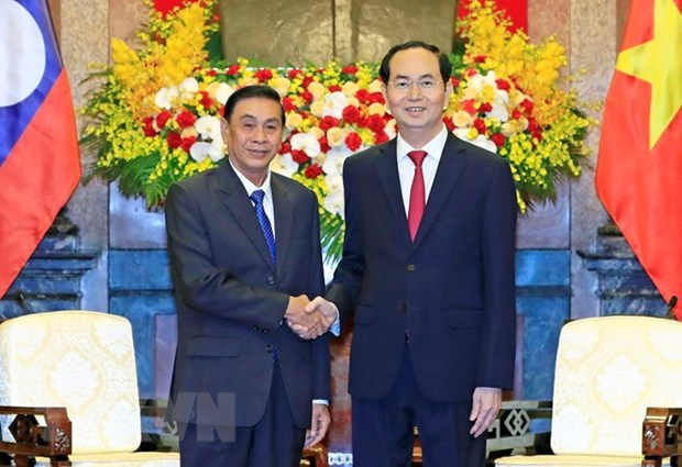 President hails cooperation between Presidential Offices of Vietnam and Laos hinh anh 1