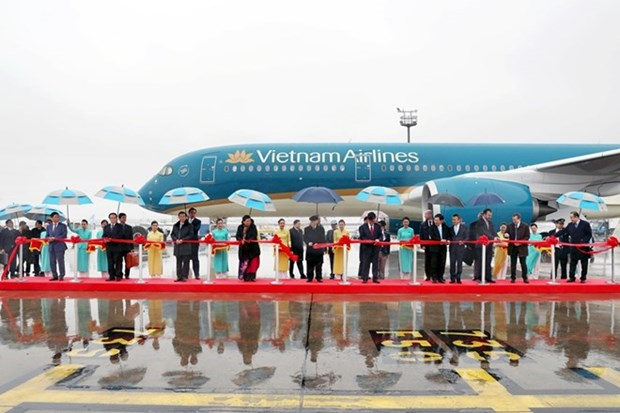 Party chief attends A350 aircraft transfer ceremony in France hinh anh 1